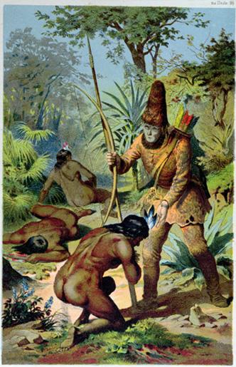 Robinson Crusoe und Freitag