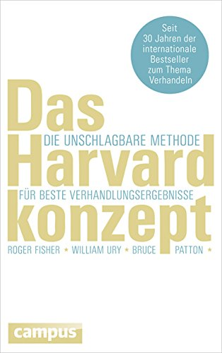 Das Harvard-konzept Der Klassiker Der Verhandlungstechnik Pdf