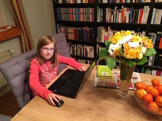 Emma bei der Arbeit